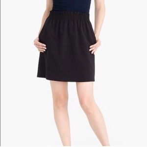 J. Crew Black Sidewalk Skirt